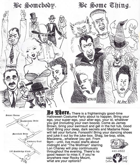 Beavis and Butt-head, Count Dracula, Casper the Friendly Ghost, Boris Karloff, Werewolf, Elvis Presley, John Wayne, Benjamin Franklin, Charlie Chaplin, Abraham Lincoln, Richard Nixon, Groucho Marx, Marilyn Monroe por jpoulos2561